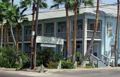 Tarpon Inn, Port Aransas, TX - lots of yummy seafood restaurants in this little island town