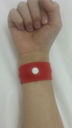 Red Nausea Bands for Young Children 2 Bands  #Unbranded