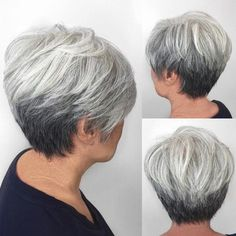 Gray Tapered Pixie For Women Over 50