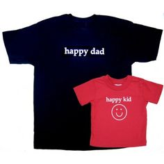 Matching Shirts for Father and Kids | Happy Dad Happy Kid