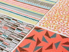 Papier mit bedruckten geometrischen Mustern // Paper printed with geometrical patterns via DaWanda.com