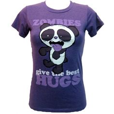 Goodie Two Sleeves Zombie Panda Hugs T-Shirt | Gothic Clothing | Emo clothing | Alternative clothing | Punk clothing - Chaotic Clothing ($32) found on Polyvore