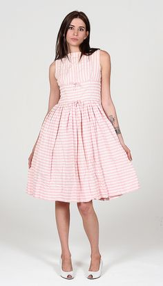 candy stripe vintage dress