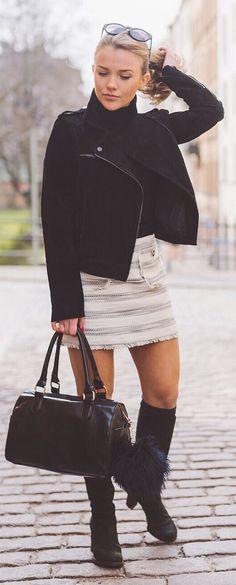 Mini Striped Skirt Streetstyle