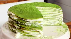 Matcha Torte Rezept als Back-Video zum selber machen! Ganz einfach Schritt für Schritt erklärt!