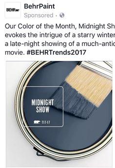 Behr paint: midnight snow T17-17
