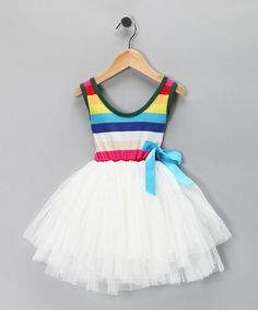 Take a look at this Di Vani White Stripe Chiffon Dress by Di Vani on today! LOVE and Bought! Rainbow Birthday Party, 2nd Birthday, Birthday Ideas, Chiffon Fabric, Chiffon Dress, Cute Girl Outfits, Kids Outfits, Little Fashionista, Cute Girls