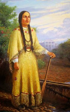 This painting imagines what Magdelaine LaFramboise might have looked like, based on descriptions written about her.  My character Magdelaine Fonteneau was inspired in part by some facts we know about LaFramboise's life: namely that she became the wealthiest woman in Michigan when she took over her murdered husband's fur trade route.  Google Image Result for http://media.mlive.com/grpress/news_impact/photo/10271516-large.jpg