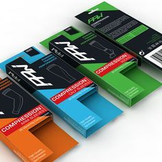 Create a packaging design for a premium sport compression wear brand