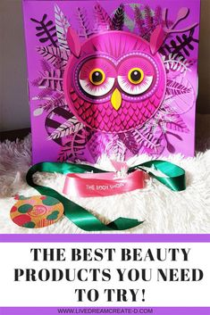 BEAUTY PRODUCTS THE BODY SHOP! The best beauty advent calendar! This was my gift to myself but this was an awesome gift to have. I have a review on this purchase here and also find out what was in this gorgeous 'Olivia The Owl' , The Enchanted Forest edition of #THEBODYSHOPCY had to offer us this year! Great gift idea for next year too! #THEBODYSHOP #giftideas #giftsforfriends