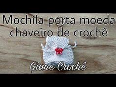 Crochet Keychain, Crochet Earrings, Childrens Purses, Crochet Gifts, Barbie, Diy Projects, Clip Art, Knitting, Toys