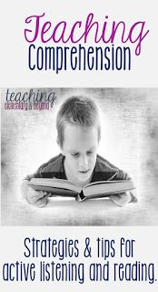 This is a comprehensive list of questions, strategies, activities and prompts to help develop comprehension in young children.