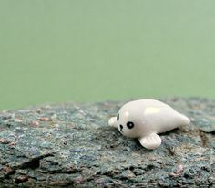 NEW Little Seal - Hand Sculpted Miniature Ceramic Animal