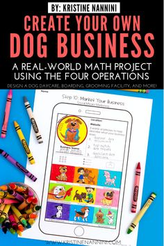 Create Your Own Dog Business Math Project - Young Teacher Love 5th Grade Classroom, Middle School Classroom, 5th Grade Math, Infant Lesson Plans, Math Projects, School Projects, Daycare Forms, Project Based Learning, Upper Elementary