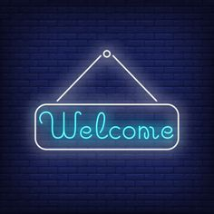 Welcome neon lettering on tablet. Neon Wall Signs, Neon Signs Quotes, Neon Light Signs, Neon Aesthetic, Quote Aesthetic, Neon Design, Logo Design, Neon Words, Neon Backgrounds