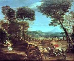 saint george and the dragon - Google Search  Domenichino (Domenico Zampieri):Landscape with St George and the Dragon