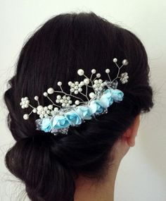 Check out this item in my Etsy shop https://www.etsy.com/listing/194509740/bridal-hair-combwedding-custom-design