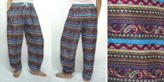 HIPPIE BOHO thai gypsy paisley yoga belly thai fisherman kungfu pants trousers  great for both men and women