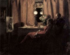 Anna Ancher · Autoritratto con Michael Ancher · 1883 · Ubicazione ignota