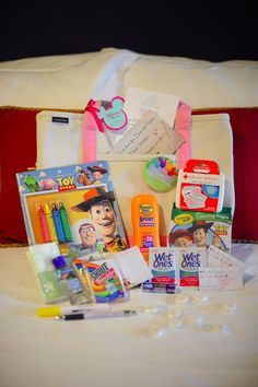 Disney Dream Cruise Wedding - Guest Care Packages - Great idea for your Guests traveling with Kids (or Kids at heart)