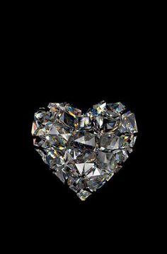 Imagen de heart, diamond, and wallpaper