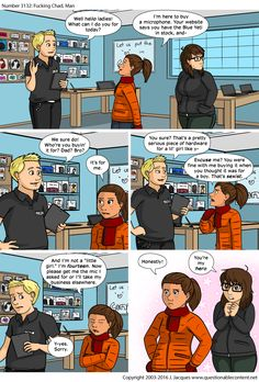 Questionable Content: New comics every Monday through Friday >>> I love this kid.