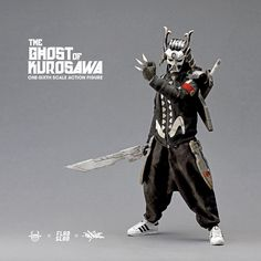 """If last week's announcement of the much anticipated"""" The Ghost of Kurosawa one-sixth Scale Action Figure by Quiccs x FLABSLAB x Devil Toys worldwide release wasn't enough for you guys, check THIS! The Ghost of Kurosawa Character Poses, 3d Character, Character Concept, Concept Art, Cyberpunk Character, Cyberpunk Art, Ronin Samurai, Armadura Cosplay, Custom Action Figures"""