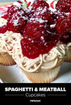 Spaghetti and Meatball cupcakes! So cute!