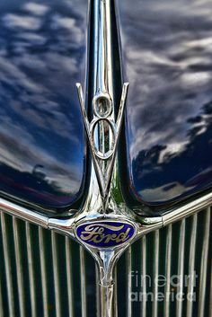 vintage 1936 blue ford phaeton with a V8! Wear Blue Run to Remember  #wearblue #wbr2r