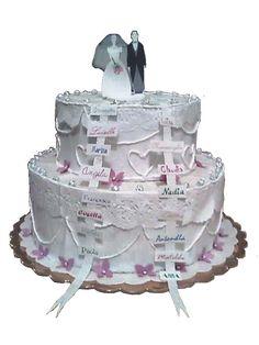 torta scatola per matrimonio