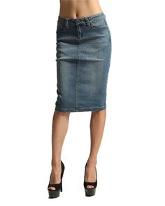 Knee Length Denim Skirt | Price $21.00 | Order at www.jupeinc.com ...