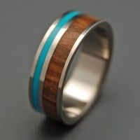 wood and turquoise