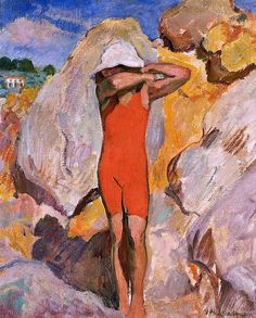Henri Lebasque - Child in Red Tights