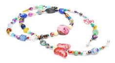 RandomJane glasses chain colorful beaded hippie boho random style summer accessory for eye glasses and sun glasses made in Vienna by Aerosvar on etsy