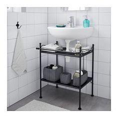 RÖnnskÄr Wash Basin Shelf Black Ikea