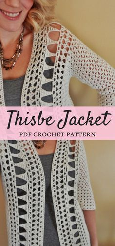 e06c50be231f4c Thisbe crochet jacket is perfect with skinny jeans or leggings and boots  for fall or over