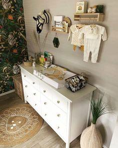11 IKEA Hemnes Dresser Hacks for Kids' Rooms and Nurseries Ikea Nursery, Nursery Dresser, Ikea Baby Room, Room Baby, Nursery Decor, Room Decor, Malm Dresser, Dresser As Nightstand, Baby Room Neutral