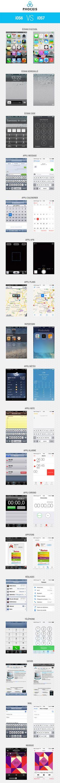 IOS6 vs IOS7 #apple #iphone