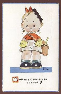 Children MABEL LUCIE ATTWELL School Child 1951 PPC