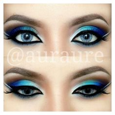 26 Easy Makeup Tutorials for Blue Eyes ❤ liked on Polyvore featuring beauty products, makeup, eye makeup, eyes and beauty