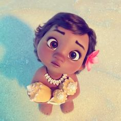 Baby #Moana / #Vaiana in the new teaser trailer from upcoming Disney's animated feature on the official japanese website.