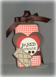Baked with Love  Handmade Gift Tag