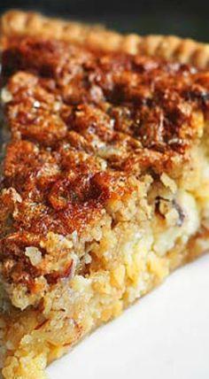Almond Oatmeal Cheesecake Pie