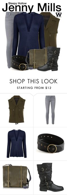 """""""Sleepy Hollow"""" by wearwhatyouwatch ❤ liked on Polyvore featuring Haider Ackermann, AG Adriano Goldschmied, Atea Oceanie, The Bridge, Report, television and wearwhatyouwatch"""