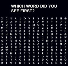 Which word did you see first?- cab, CAB was the first word i saw....then it was freedom. Wtf