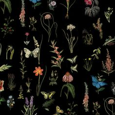 Flores e borboletas, uma combinação linda, colorida e cheia de vida. Construído com ilustrações botânicas, essa estampa tem um equilíbrio impressionante entre cores e leveza que a faz encantadora e versátil.