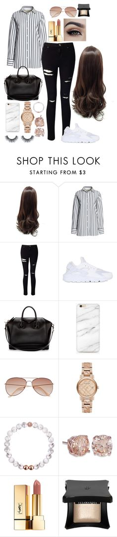 """""""Casual Rose Gold"""" by jazzy-fraser ❤ liked on Polyvore featuring Canvas by Lands' End, Miss Selfridge, NIKE, Givenchy, H&M, Burberry, Yves Saint Laurent and Illamasqua"""
