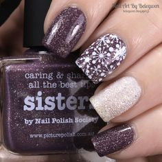 Nail Art By Belegwen: Picture Polish Sisters and Barry M Lady