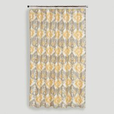 Golden Ikat Shower Curtain - World Market
