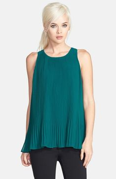 Free shipping and returns on ASTR Pleated Sleeveless Tunic at Nordstrom.com. Accordion pleats define an ethereal sleeveless tunic that finishes with a playfully flared hemline.
